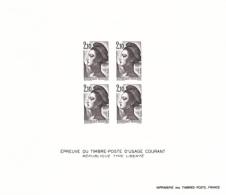 France épreuve Offerte Par La Poste 2322 Liberté De Delacroix  1984 - Luxusentwürfe