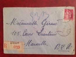 Type Paix 289 Cogolin Pour Marseille Recommandé - 1921-1960: Modern Period