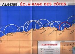 Carte   Coloniale-ECLAIRAGE DES COTES-RADIOS PHARES - Cartes Marines