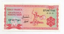 Burundi - 1991 - Banconota Da 20 Franchi - Nuova - (FDC 406) - Burundi
