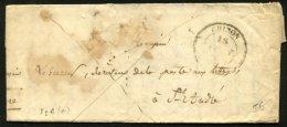 INDRE ET LOIRE: Pli De CHINON De 1843 En Franchise Avec CàDate Type 14 De CHINON (36) P Directeur Des Postes St ANDRE - Postmark Collection (Covers)