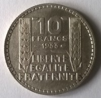 10 Francs TURIN 1933 - TTB - - K. 10 Francs