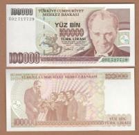 AC - TURKEY- 7TH EMISSION 100 000 TL G UNCIRCULATED - Turquie