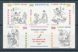 Suisse N°1603 à 1607** Rodolphe Töpffer - Unused Stamps