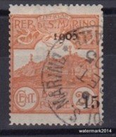 19051943 San Marino Overprint Sas 46 Cpl (o) - Oblitérés