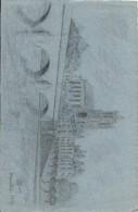 Dessin D´amateur/Crayon/L RACLET/Non Encadré/Mantes/ La Collégiale/ 1937      GRAV134 - Disegni