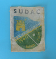 2. TABLE TENNIS EUROPEAN CHAMPIONSHIP 1960. ´´ JUDGE ´´ Original Vintage Official Patch * Tennis De Table Tischtennis - Tennis De Table