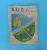 2. TABLE TENNIS EUROPEAN CHAMPIONSHIP 1960. ´´ JUDGE ´´ Original Vintage Official Patch * Tennis De Table Tischtennis - Tischtennis