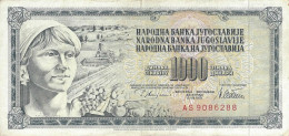 YUGOSLAVIA 1000 DINARA 1978 P-92c F/VF  [ YU092cvf ] - Yougoslavie