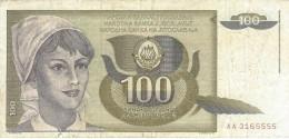 YUGOSLAVIA 100 DINARA 1991 P-108 VF  [ YU108circ ] - Yugoslavia