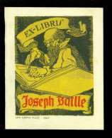 Ex - Libris ( 15 )   1947  J. Batlle  Barcelona  España  Espagne  Spanje - Luis Garcia Falgas 1947 - Ex-Libris