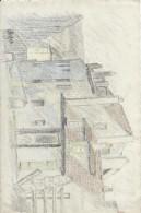 Dessin D´amateur/Crayon/L RACLET/Non Encadré/MONMARTRE/Rue DuMont Cenis/Maison De Mimi Pinson/ 1926    GRAV138 - Dessins