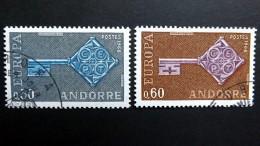Andorra Franz. 208/9 Oo/ESST,  EUROPA/CEPT 1968