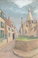 Dessin D´amateur/Gouache/L RACLET/Non Encadré/MONMARTRE/Rue Cortot/ 1928    GRAV139 - Gouaches
