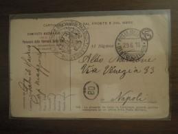 POSTA MILITARE  UFFICIO INTENDENZA 1° ARMATA - Cartolina In Franchigia  29. 6. 16  SERVIZIO RADIO - TELEGRAFICO MILITARE - 1900-44 Victor Emmanuel III