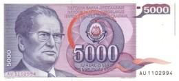 YUGOSLAVIA 5000 DINARA 1985 P-93a UNC  [ YU093a ] - Yugoslavia