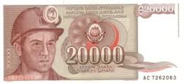 YUGOSLAVIA 20000 DINARA 1987 P-95a UNC  [ YU095a ] - Yugoslavia