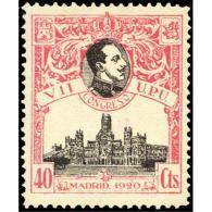 ES305STV-LFT***305STARSC.España.Spain. Espagne.REY ALFONSO Xlll.UPU .1920.(Ed 304**)  Sin  Charnela - Arquitectura