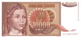 YUGOSLAVIA 10000 DINARA 1992 P-116a UNC  [ YU116a ] - Yougoslavie