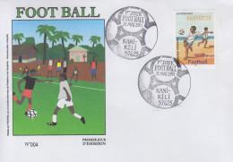 Enveloppe  FDC  1er  Jour    MAYOTTE     FOOTBALL    2001
