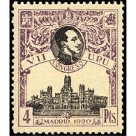 ES308STV-LFT***308STARSC.España.Spain. Espagne.REY ALFONSO Xlll.UPU .1920.(Ed 308**)  Sin  Charnela - Arquitectura