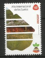 2015 Año Internacional De Los Suelos. (Contraintes Et Potentialités Pour Une Gestion Durable) Un Timbre Neuf ** - Uruguay