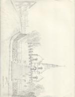 Dessin D´amateur/Crayon/L RACLET/Non Encadré/Place De L'Eglise/Sartrouville 1964    GRAV144 - Gouaches