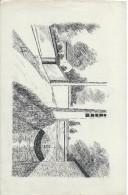 Dessin D´amateur/Plume/L RACLET/Non Encadré/Petit Pont  Et Canal /Vers 1950   GRAV145 - Autres Collections