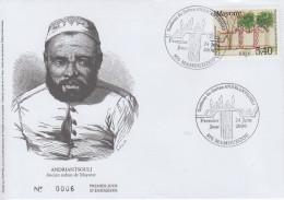 Enveloppe  FDC  1er  Jour    MAYOTTE    Tombeau  Du  Sultan   ANDRIANTSOULI    2000
