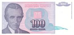 YUGOSLAVIA 100 DINARA 1994 P-139 UNC  [ YU139 ] - Yugoslavia
