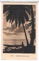 TAHITI    CONTRE  JOUR  SUR  LA MER CPA  BE  AU406 - Polynésie Française