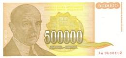 YUGOSLAVIA 500000 DINARA 1994 P-143a UNC  [ YU143a ] - Yugoslavia