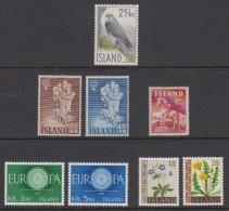 1960 ** Islande (sans Charn., MNH, Postfrish) Complete Yv 284 298/04  Mi 339/46  FA 373/80 (8v) - Komplette Jahrgänge
