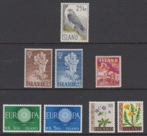 1960 ** Islande (sans Charn., MNH, Postfrish) Complete Yv 284 298/04  Mi 339/46  FA 373/80 (8v) - Island
