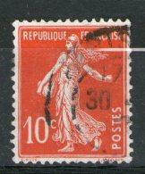 N° 138 IC°_Hachure Manquante_écarlate_bon Centrage_papier BLANC (X-???)_Infime Clair - 1906-38 Semeuse Camée