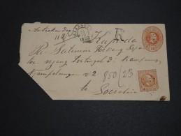 PAYS BAS / INDES - Entier Postal En Recommandé De Makassar En 1892 - A Voir - L 2030 - Indes Néerlandaises