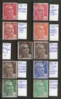 """Petites Variétés Sur """"Gandon""""_voir Détails_O/*/**_4 Scans - 1945-54 Marianne Of Gandon"""