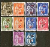 Lot De Neufs** Et Oblitérés_tous Différents_2 Scans - 1932-39 Peace