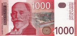 * YUGOSLAVIA 1000 DINARA 2001 P-158 UNC  [ YU158a ] - Yugoslavia