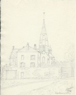 Dessin D´amateur/Crayon/L RACLET/Non Encadré/Eglise / Sartrouville/1964   GRAV149 - Autres Collections