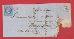 Lettre De St Nicolas Du Port -- Pour  Bouxviller --  15 Mai 1867 - Storia Postale