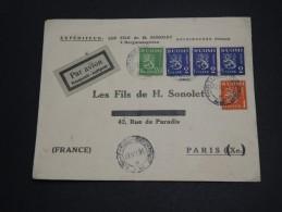 FINLANDE - Enveloppe Commerciale Par Avion Pour Paris En 1931 , Affranchissement Tricolore - A Voir - L 2042
