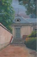 Dessin D´amateur/Gouache/L RACLET/Non Encadré/Escalier Et Porte De Chapelle/Vers 1930 GRAV154 - Gouaches
