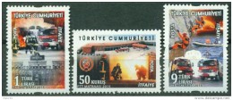 AC - TURKEY STAMP - FIRE BRIGADE THEMED DEFINITIVE POSTAGE STAMPS MNH 26 JUNE 2015 - 1921-... Republic