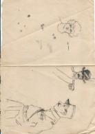 Dessin D´amateur/Crayon//L RACLET/Non Encadré/Esquisses De Caricatures/ Militaires/Vers 1930    GRAV156 - Dessins