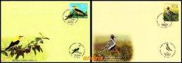 Latvia Lettland Lettonie 2015 (13) Birds - Vogel - Oiseau - Golden Oriole - Golden Plover (unaddressed FDC Set) - Latvia