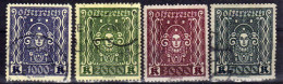 Österreich 1922/24 Mi 404-407 A I, Gestempelt [030916XVII] - 1918-1945 1ra República