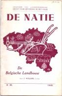 Brochure Handboekje - De Natie - De Belgische Landbouw - Willems 1949 - Dienst Belg. Leger - Non Classés