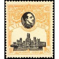 ES309STV-LFT***309STCFR.España.Spain. Espagne.REY ALFONSO Xlll.UPU .1920.(Ed 309**)  Sin  Charnela - Familias Reales