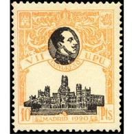 ES309STV-LFT***309STARSC.España.Spain. Espagne.REY ALFONSO Xlll.UPU .1920.(Ed 309**)  Sin  Charnela - Arquitectura